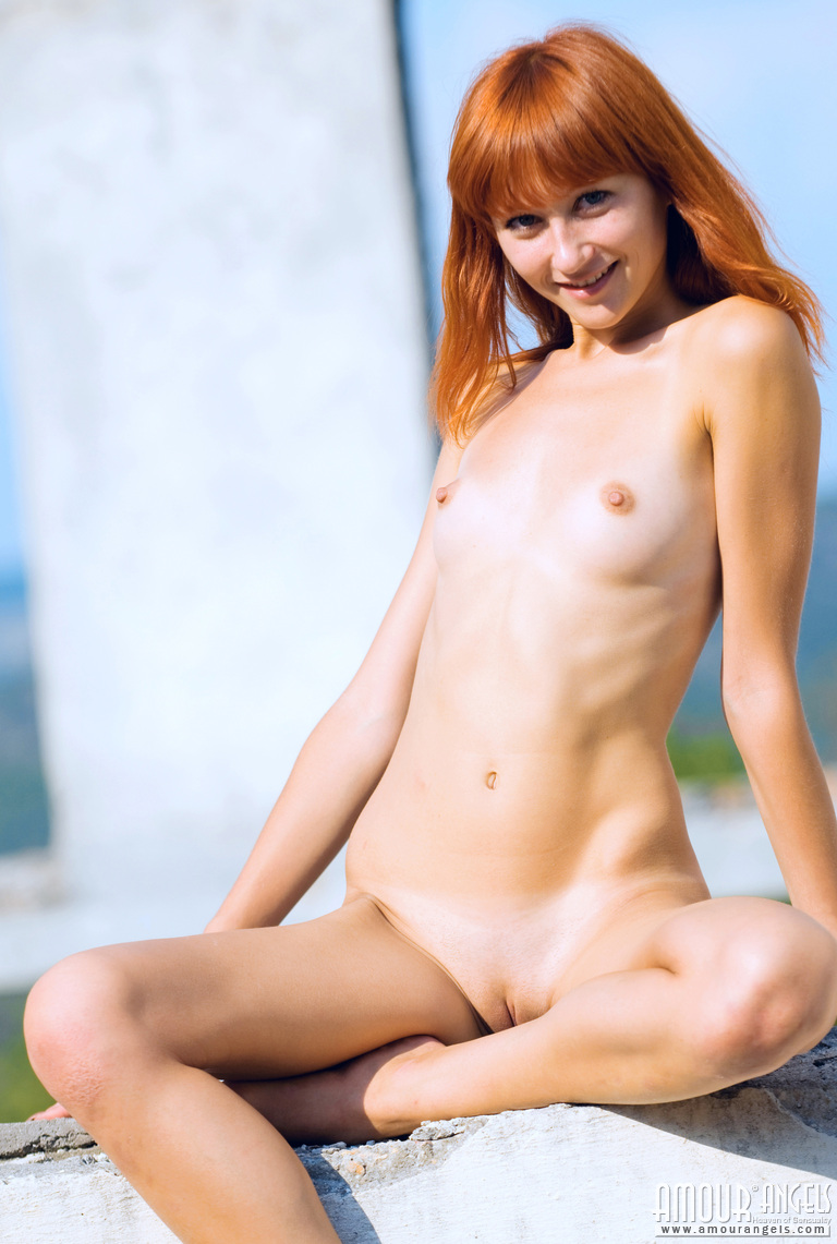 Naked Teen Redheads Exposing Their Young Tight Bodies And